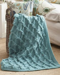 Free pattern from Bernat. Size 10 needle and chunky yarn. Should go pretty quickly. I want to do it in lime green or pink