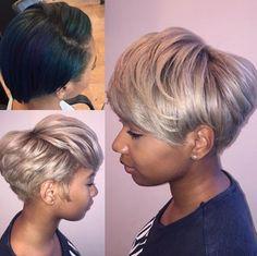 Short Sassy Hair, Short Grey Hair, Short Hair Cuts, Short Hair Styles, Pixie Styles, Gray Hair, Blonde Natural Hair, Natural Hair Care, Natural Hair Styles