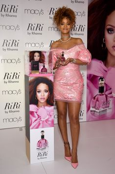 Rihanna Pumps - Bubblegum-pink Christian Louboutin pumps injected an extra dose of femininity.