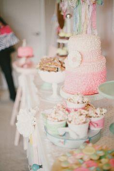 Vintage Pink 1st Birthday | Seattle Dessert Tables | Jenny Cookies