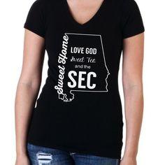 Alabama football SEC v-neck t-shirt, gameday shirts, trendy shirts,diy shirts, roll tide, football gift ideas, gameday ootd by LineLiamBoutique on Etsy https://www.etsy.com/listing/220393623/alabama-football-sec-v-neck-t-shirt