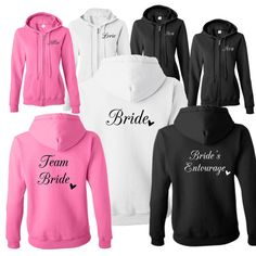 1 Bridesmaid Bridal Party Full Zip Hooded by Whynotstopnshop