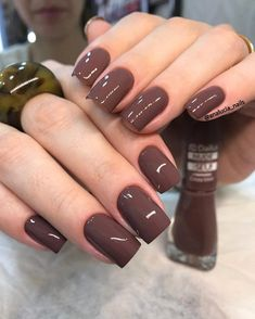Nails gel polish colors opi 63 Ideas for 2019 – Toptrendpin Brown Nail Polish, Brown Nails, Gel Nail Polish, Classy Nails, Simple Nails, Trendy Nails, Gel Polish Colors, Nail Colors, Acrylic Nails Almond Short