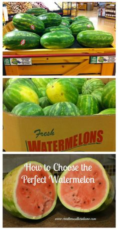3 easy tips to help you pick the perfect watermelon every time!