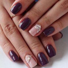 Imagine nails, manicure, and nail art Plum Nails, Dark Nails, Stylish Nails, Trendy Nails, Nailed It, Nail Art Design Gallery, Shellac Manicure, Vernis Semi Permanent, Best Nail Art Designs