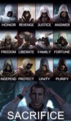 Assassin's Creed - My favourite game ever! Dragon Age, Assassins Creed Quotes, Assassins Creed Tattoo, Assassins Creed Origins, Deutsche Girls, Assasins Cred, Assassin's Creed Wallpaper, Connor Kenway, All Assassin's Creed