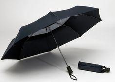 0Black sun protection travel umbrella (also for the rain)
