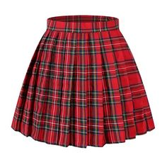 Shop Women's Japan High Waisted Pleated Cosplay Costumes Skirts - Red Mixed Green - and Discover a Huge Selection of Women's Skirts at Affordable Price. Edgy Outfits, Teen Fashion Outfits, Cute Casual Outfits, Skirt Outfits, Girl Fashion, Fashion Skirts, Cute Skirts, Plaid Skirts, Women's Skirts