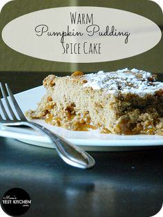 Warm Pumpkin Pudding Spice Cake   www.momstestkitchen.com   #VeryPumpkinBirthday