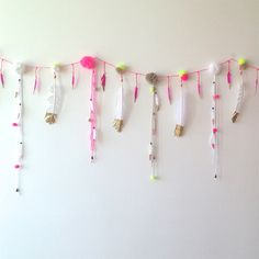 Dipped feather garland - for a birthday party?