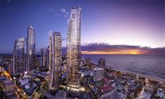 Stay at the towering Hilton Surfers Paradise Hotel & Residences on the beautiful Gold Coast, with myriad attractions & theme parks nearby. Hilton Hotels, Hotels And Resorts, Luxury Resorts, Best Caravan, Caravan Parks, Australia Hotels, Queensland Australia, Coast Australia, Paradise Hotel