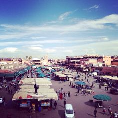 Jemma El Fana square in Medina. You won't get a glimpse of the streets by the evening, little food market stalls and street sellers will fill this are with colour, aroma and enthusiasm. Marrakech is the place to be if you like the thrill of bargaining.