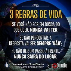 3 regras de vida... #reflexão #comportamento #atitude #carreira
