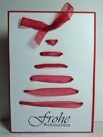 Niedliche Idee für eine selbstgemachte Weihnachtskarte