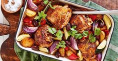 Create a Spanish-inspired chicken bake with this effortless recipe the whole family will love.