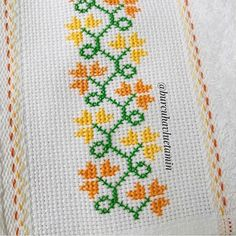 Cross Stitch Art, Cross Stitch Borders, Cross Stitch Designs, Cross Stitch Patterns, Hand Embroidery Design Patterns, Embroidery Stitches Tutorial, Crochet Bedspread, Bead Crochet, Silk Ribbon Embroidery