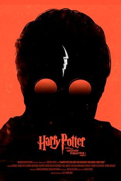 """Harry Potter and the Deathly Hallows: Part I"" movie poster. Concept by Olly Moss."