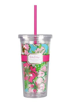 Lilly Pulitzer® Travel Tumblers make great gifts-- and at $15, they can't be beat!