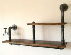 Wandregale - rohr regal,loft,industrial - ein Designerstück von Steel-and-Wood bei DaWanda