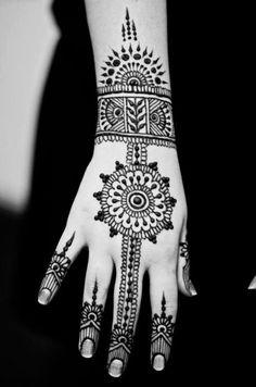 Henna...I'd do it on the palm