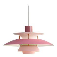 PH 5 Mini pendel, hues of rose, Louis Poulsen, Poul Henningsen Sweet Home, Ceiling Lights, Living Room, Lighting, Architecture, Pendant, House Styles, Rose, Mini