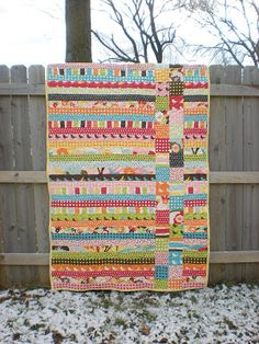 An idea for 1 of my nieces. Jelly roll & charm pack quick quilt.