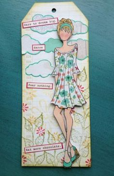 Love the dress!...Julie Nutting stamp from Prima by roxanne