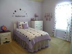 A Pretty Polka Dot Lavender Little Girls Room for Audrey