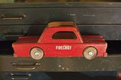 Vintage Fire Chief's Car - Creative Playthings Collection Martha Stewart
