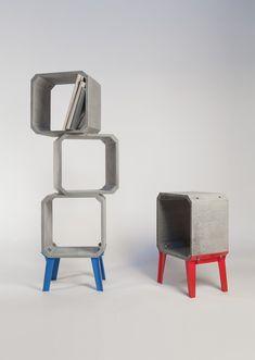 Zhi and Kou Cement Modular Furniture