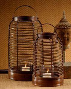 bamboo spa lantern