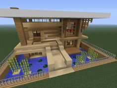 Modern minecraft house - looks cool but very difficult to build