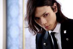 "Mizushima Hiro (水嶋 ヒロ) as Sebastian Michaelis in the movie ""Black Butler""."