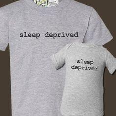 Sleep Deprived Daddy/MOMMY and Baby Gift Set