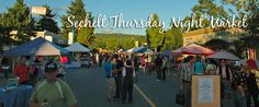 The Sechelt Night Market takes place every Thursday night starting in the spring and ending in the fall. Live music, kettle corn, great treats, dog jackets, jewelry, aromatherapy, outdoor gear, art, records - yeah, real records!! - and a constantly changing vendor lineup. A very small-town feel.