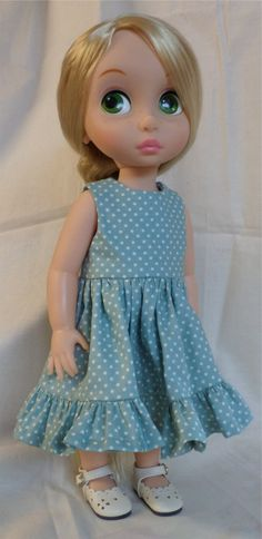Disney Animator Doll Clothes Teal Tiered Dress for by MellyMakes1