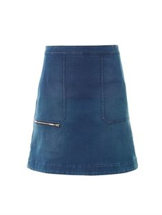 Stella McCartney Denim A-line skirt