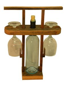 Travel Wine Caddy by RustedNailBarnwood on Etsy, $30.00
