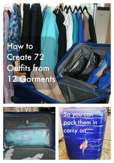 72 outfits from 12 garments