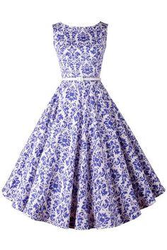 Details: Dress Silhouette: Swing Dress Length: Midi Length Pattern…