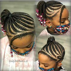 Black Kids Braids Hairstyles, Cute Little Girl Hairstyles, Little Girl Braids, Girls Natural Hairstyles, Baby Girl Hairstyles, Hair Twist Styles, Kid Braid Styles, Natural Hair Styles, Braids For Black Kids