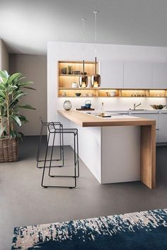 Beautiful Small Kitchen Ideas for Your Home Kitchen interior designs for small spaces Luxury Kitchen Design, Interior Design Kitchen, Design Bathroom, Bathroom Interior, New Kitchen Cabinets, Kitchen Countertops, Kitchen Bar Counter, Soapstone Kitchen, Glass Cabinets