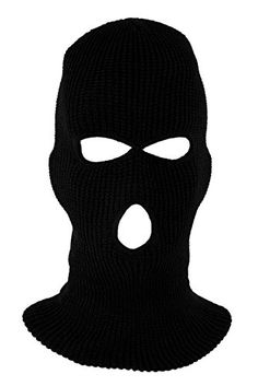 99c9308ae0 Amazon.com : Mask - TOOGOO(R)cagoule 3-hole hood intervention Commando  Black Panther - police - Swat - GIGN - raid - Special Forces - Airsoft-  Paintball ...