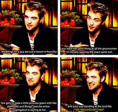 I'm not a huge Twilight fan, but this is actually funny. Not because the sparkly guy said it, but because this so true!!