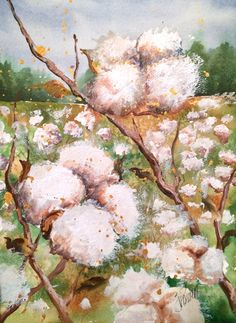 White Cotton Fields Back Home by JoArtPowers on Etsy https://www.etsy.com/listing/251659610/white-cotton-fields-back-home