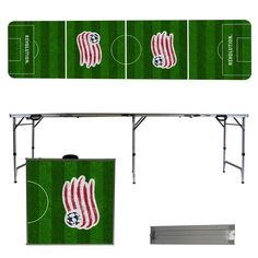 New England Revolution Soccer Field Folding Table