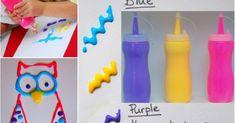 Imaginez le plaisir des enfants de peindre avec de la peinture gonflée! Les couleurs sont incroyablement belles et la peinture sèche à l'air! Une belle façon de réinventer la peinture pour enfant. Plusieurs petites recettes existes pour faire les cou