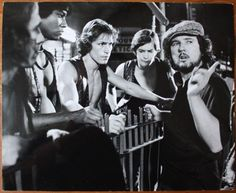 Walter Hill (director) giving instructions outside 72nd station where they see The Baseball Furies to The Warriors, Cowboy, Snow, Swan and Ajax.