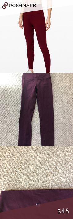 PLUS SIZE Buttery Soft Always Brushed Solid BurgundyLeggings TC//38