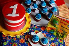 Compliments of Kim: Dr. Seuss Themed First Birthday Party